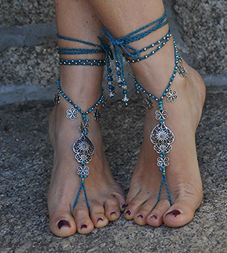 Filigree Heart Anklet - Barefoot Sandals Filigree