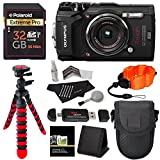 Olympus TG-5 Waterproof Camera with 3-Inch LCD, Black V104190BU000, Polaroid 32GB Class 10 SD Card, Ritz Gear Tripod, Camera Case and Accessory Bundle