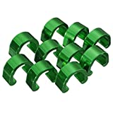 C-Clip - SODIAL(R)C-Clip 10pcs Snap Tubes Brake Hose Guide MTB BMX bike Color: Green