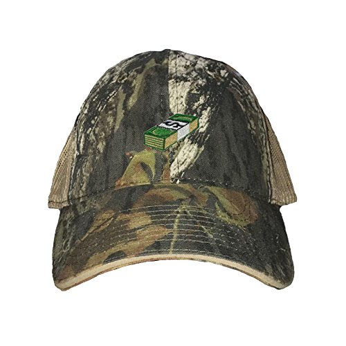 Oak Stack (Go All Out One Size Mossy Oak Breakup/Khaki Adult Money Stack Embroidered Distressed Trucker Cap)