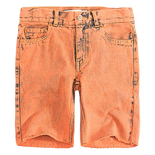 Levi's Big Boys' 511 Slim Fit Denim Shorts, Orange -