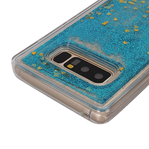 en TPU Paillette Transparent Note pour Galaxy Souple Quicksand N950F Liquide Etui Silicone Couleur Samsung Coque Bump 8 8 de Protection Moon Téléphone Galaxy Note Coque Cover Antichoc Bling Case mood® 8 Housse qwz7vPvx