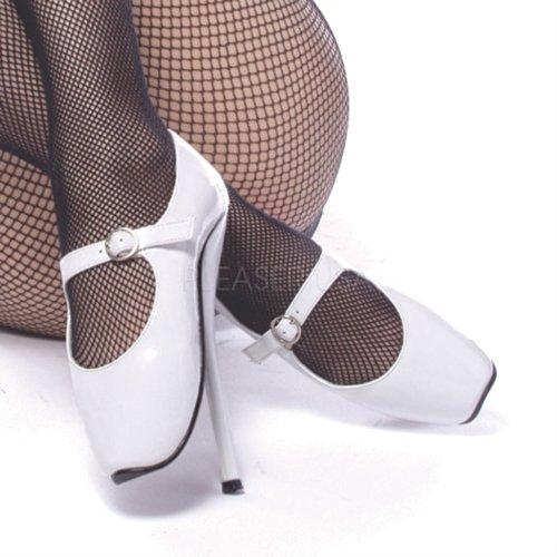 Devious Ballet de 08Fetish Talons hauts femme Wht Pat