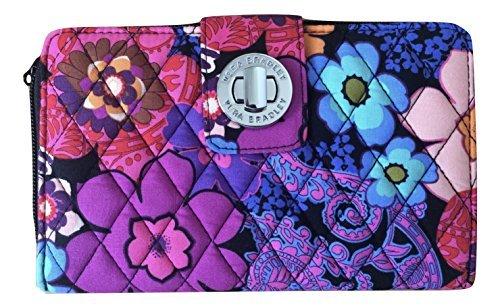 Vera Bradley Turn-Lock Wallet (One Size, Floral Fiesta) ()