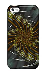 Excellent Iphone 5/5s Case Tpu Cover Back Skin Protector Fractal