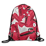 Wedding Game Over Make You Look Like Cool Print Drawstring Backpack Lightweight Rucksack Backpack Bag