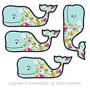 Amazon Com Vineyard Vines Colorful Fruits Whale Stickers