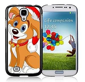 Custom-ized Phone Case Samsung S4 TPU Protective Skin Cover Christmas Dog Black Samsung Galaxy S4 i9500 Case 21