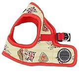 Puppia Authentic Britannia Vest Harness B, Large, Red