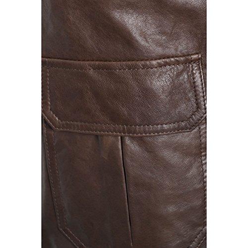 La Martina Abrigo Chaqueta Piel Marrón para Hombre marrón L: Amazon.es: Ropa y accesorios
