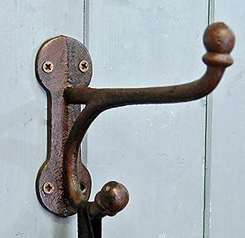 Rutland cast antique style long coat hook