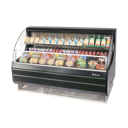 TOM60LB 63 Low Profile Display Merchandiser with Modern Design Attractive Glass Sides Environmental Friendly Refrigeration System Standard Back-Guard and Anti-Rust Coating: Black