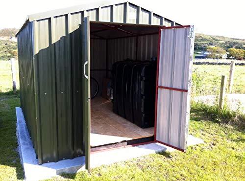 Weizhengheng garden shed steel storage shed size: L ×W ×H: 1.37 × 2.29 × 1.96m