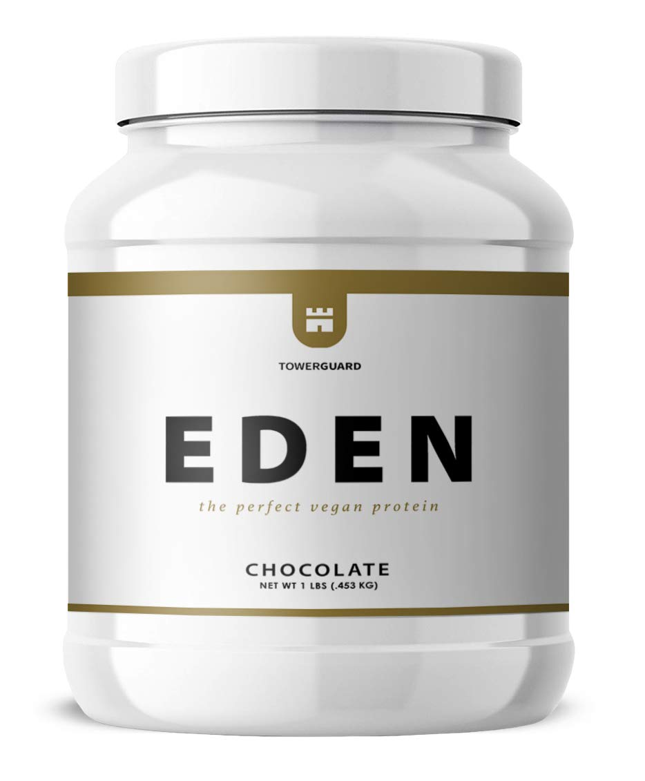 Eden Chickpea Protein Powder | Vegan, Low Net Carbs, Dairy Free, Gluten Free, Lactose Free, Soy Free, Non-GMO & High Bioavailability (1 lb, Chocolate) by Tower Guard