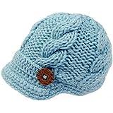 Bestknit Baby Boys Crochet Knit Newsboy cap Photography Brim Buttons Hat