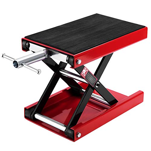 Low Lift Transmission Jack - VIVOHOME Steel Motorcycle ATV Wide Deck Scissor Lift Jack Crank Hoist Stand 1100 lbs