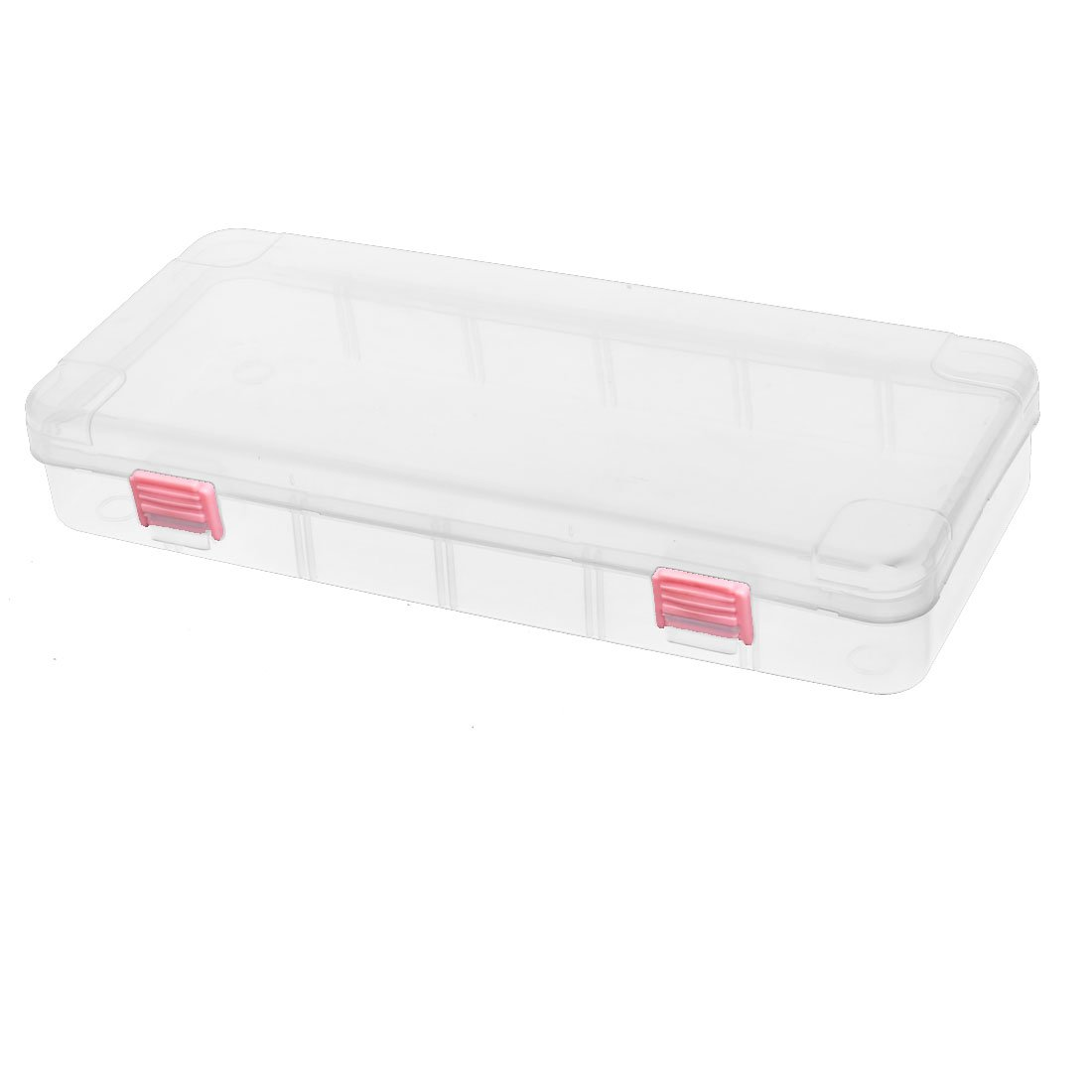 uxcell 270mmx117mmx45mm Jewelry Earring Bead Organizer Container Storage Case Clear