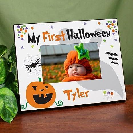 """Mi primer Halloween impresa marco, sostiene una foto de 3,5 """"x"""