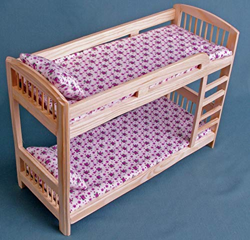 Furniture For Barbie Dolls Bunk Bed Wooden Dollhouse Miniature Self Production Kit 1 6 Scale For 12 Inch Dolls Mh Blythe Yosd Role Playing Games