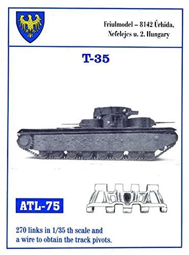 5 Metal Track Link Set for Russian T-35 (T35 Russian Tank)