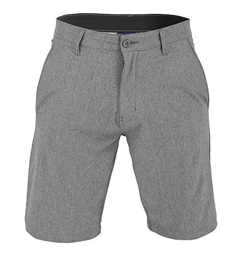 US Apparel Men's Walker Quick Dry Microfiber Swim Shorts Grey ()