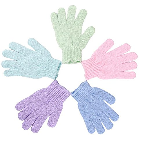 1PCS Bath Shower Exfoliating Soap Foam Gloves Scrubber Massager SPA DragonElf