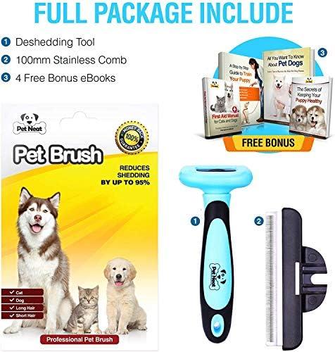 Brosse de toilettage pour animaux de compagnie - Réduit efficacement la perte de poils jusqu'à 95 % - Outil professionnel de toilettage pour chiens et chats
