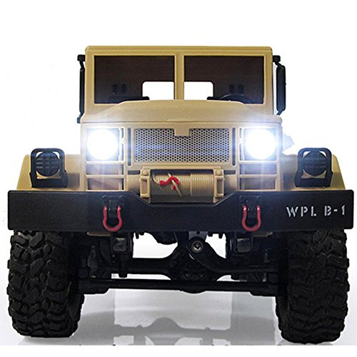 KXN RC Wireless Remote Control Vehicle Off Road 2.4Ghz 4WD 1:16 WPL Military Trucks, Best Gift for Kids and Adults (Yellow)