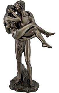 Resin Statues The Lovers Bronze Finished Man Carrying Woman Nude Statue 6.5  X 11.5 X 3.5