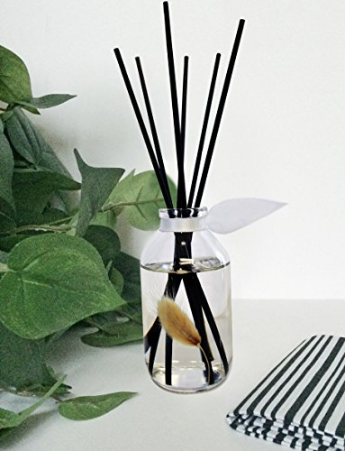 LOVSPA Clean Cotton Blossom Essential Oil Reed Sticks Diffuser Set | Airy Green Floral Powdery Woods, Sun Dried Linen & Mandarin Blossom by LOVSPA (Image #4)