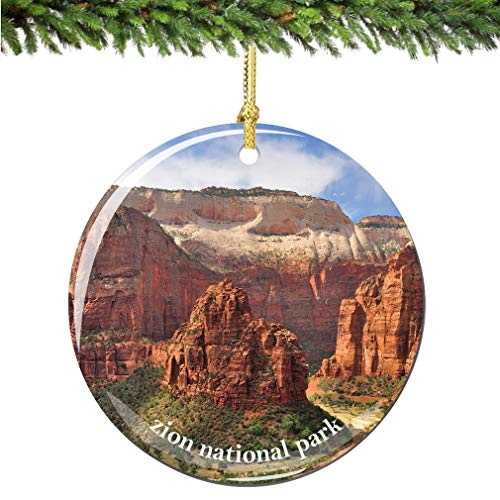 City-Souvenirs Zion National Park Christmas Ornament Porcelain Double Sided