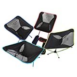 Candora™ Portable Ultralight Folding Chair, with Carry Bag Heavy Duty 330lbs Capacity Foldable Seat for Picnic Hiking Fishing Camping Garden BBQ Beach Patio Outdoor & Indoor Activities