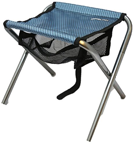 Trekology Portable Folding Stool, Ultralight Compact Footrest Stool, Mesh bag for Storage, Support 250lb Sitting Weight, Great for a Quick Rest Outdoors and for Chores Close to the Ground (Blue)
