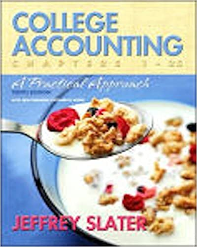 College Accounting: Study Guide & Working Papers, Chs. 13-25 (Chapters 13-25) by Jeffrey Slater (2006-11-02)
