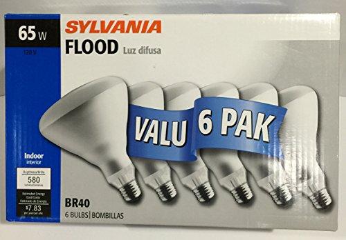 SYLVANIA 6 Pack 65 Watt Medium Incandescent