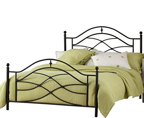 (Hillsdale Furniture 1601BQR Hillsdale Cole Frame Queen Bed, Black Twinkle)