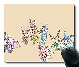 """Eevee Eeveelutions Flareon Jolteon Leafeon Custom Rectangle Mouse Pad Oblong Gaming Mousepad in 220mm*180mm*3mm (9""""*7"""") -912064"""