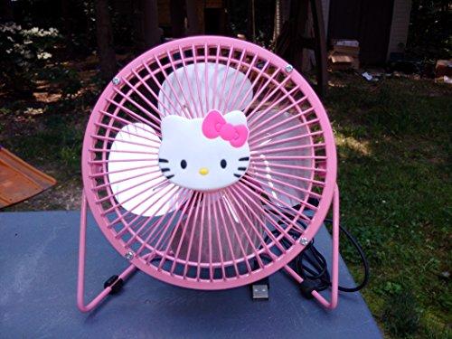 Hello Kitty Pink Usb Mini Fan 6 Inches (Hello Fan Kitty)