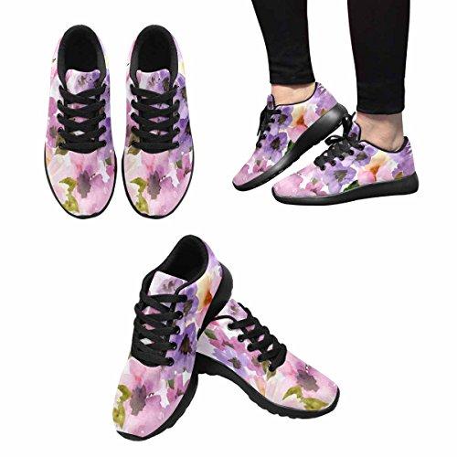 Interessante Womens Jogging Running Sneaker Leggero Go Easy Walking Comfort Sportivo Scarpe Sportive Fiori E Piante Multi 1