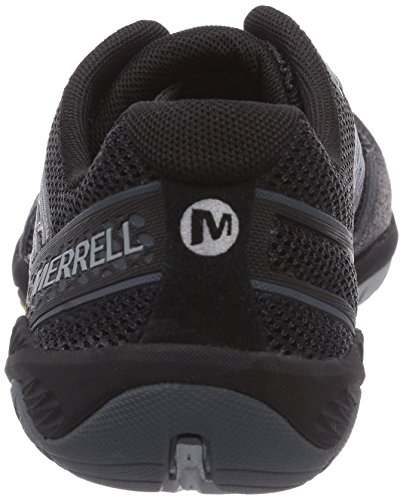 Merrell Mens Trail Glove 3 Minimal Trail Running Shoe Nero / Grigio Chiaro