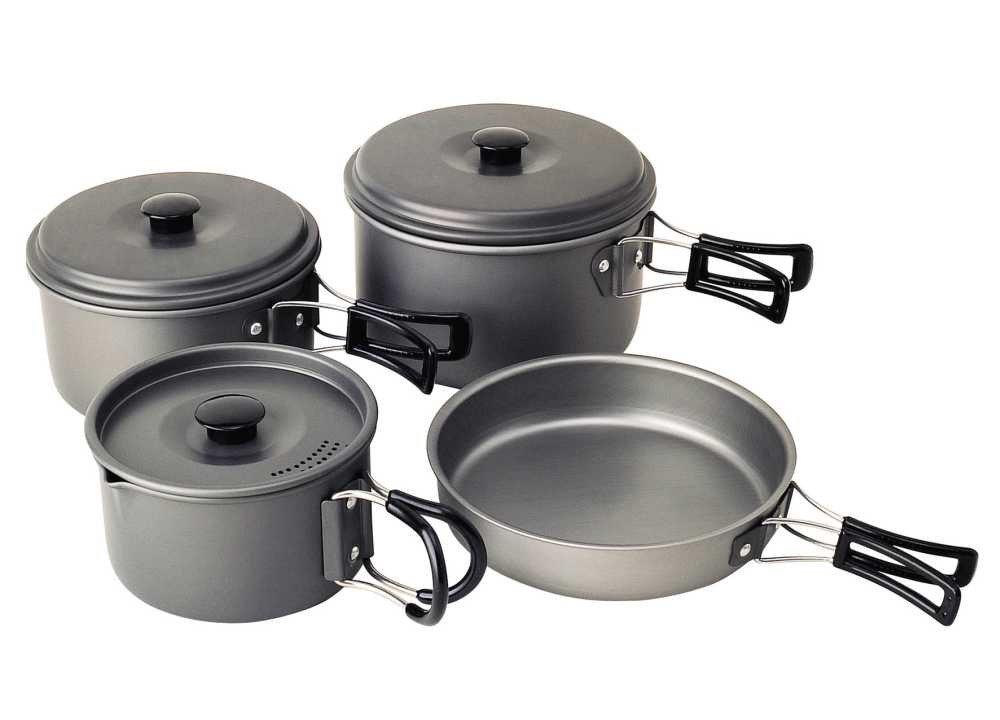 Beschichtetes Kochgeschirr Campingaz Geschirr-Set Eloxiert