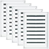 18''W x 24''H Rectangle Gable Vent Louver, 001 - White (5/pack)