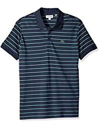 Men's Short Sleeve Pima Reg Fit Fine Stripe Polo