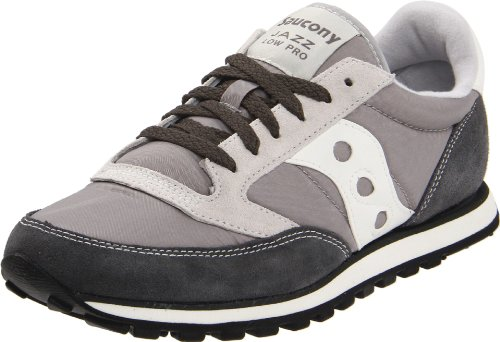 Saucony Originals Men's Jazz Low Pro Classic Retro Sneaker, Grey/White, 10 M US