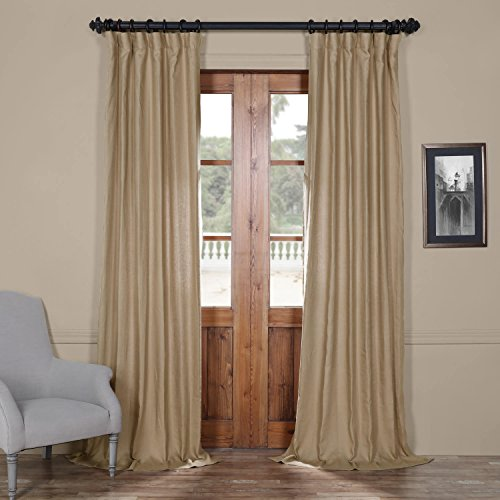 Half Price Drapes LN-XS1703-108 French Linen Curtain, 50 x 108, Flax Beige (Linen 108 Curtains)