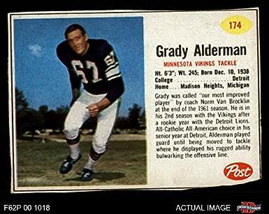 a6d0918d507 1962 Post Cereal   174 Grady Alderman Minnesota Vikings (Football Card)  Dean s Cards 2
