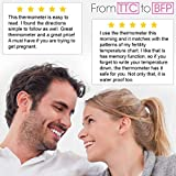 Fertility Basal Thermometer for Ovulation - iProven BBT-271B - 1/100th Accuracy - Trying to Conceive The Natural Way - Monitor Your Waking Temperature - Ovulation Tracking and Prediction