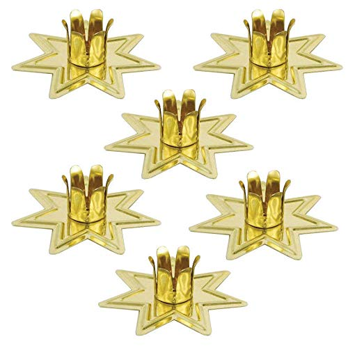 (Anya Nana Set of 6 Gold Fairy Star Chime Candle Holders for 4