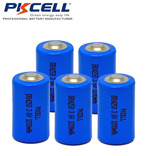 5PCS 1/2AA Size ER14250 3.6V 1200 mAh Lithium Batteries For Dog Watch Fence Collars