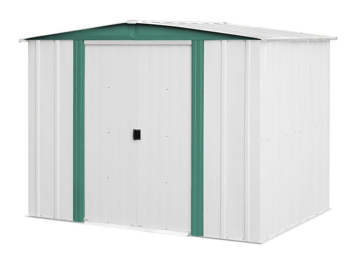 Arrow sheds hm86 hamlet steel storage shed 8 by 6 feet ebay for Garden shed uae